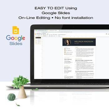 RESUME Template Google Slides | TEACHER | + Educator Writing Guide