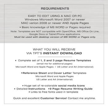 RESUME Template TEACHER with Photo For MS Word | + Educator Resume Writing Guide