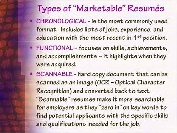 """RESUME WRITING TIPS POWERPOINT - """"Creating a GOOD 1st Impression"""""""