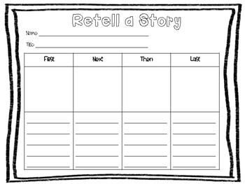 RETELL A STORY GRAPHIC ORGANIZER