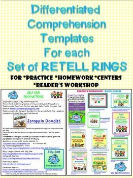 RETELL RINGS Advanced BOOKMARKS & GRAPHIC ORGANIZERS