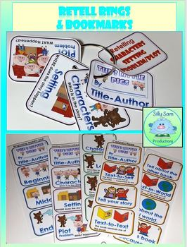 RETELL RINGS BOOKMARKS and GRAPHIC ORGANIZERS Beginner Set