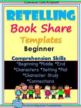 RETELLING Book Share Templates BEGINNER