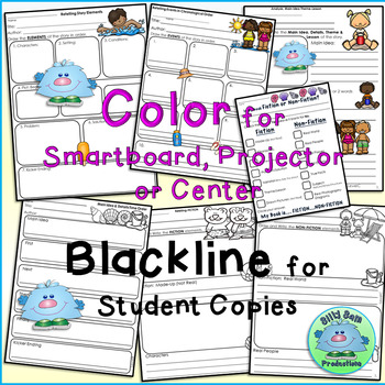 RETELLING Graphic Organizers 4 SEASONS BUNDLE Guided Reading Levels A-K