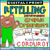 RETELLING:Reader's Workshop Differentiated Templates Plus CORDUROY CRAFTIVITY