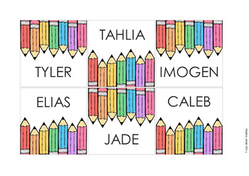 RETRO RAINBOW Classroom Labels + Signs Pack