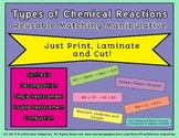 Reusable Manipulative TYPES OF CHEMICAL REACTIONS: Just Print Laminate and Cut!