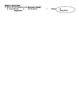 REVIEW ACTIVITY - SHORT STORY UNIT / ELEMENTS OF FICTION (GRADE 9)
