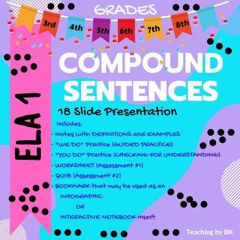 REVIEW Compound Sentences (PowerPoint)