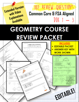 REVIEW PACKET - Full Year Geometry Curriculum Reviewed