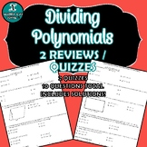 NEW! - REVIEW / QUIZ - Algebra - Dividing Polynomials