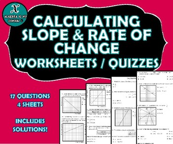 REVIEW / QUIZ - Calculating Slope & Rate of Change