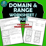 REVIEW / QUIZ - Domain & Range of Linear Functions