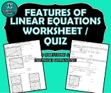 REVIEW / QUIZ - Features of Linear Functions