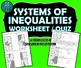 REVIEW / QUIZ - Linear Inequalities & Systems of Inequalities