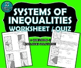 REVIEW / QUIZ - Systems of Inequalities