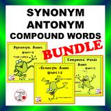 BUNDLE Synonym, Antonym, Compound Words | Scoot  | Gr  1-2 CORE Language