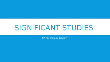 REVIEW: Top 15 Significant Psychology Studies to know for the AP Psych Exam