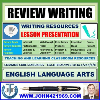 REVIEW WRITING: READY TO USE LESSON PRESENTATION