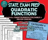 FLIP BOOK / FOLDABLE / QUIZZES - Quadratic Functions - STA