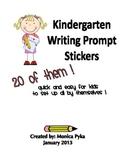 REVISED: Kindergarten Writing Prompt Stickers