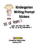 REVISED: Kindergarten Writing Prompt Stickers