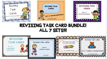 REVISING TASK CARDS BUNDLE- ALL 7 SETS!