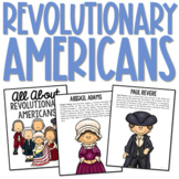 REVOLUTIONARY AMERICANS Posters   Coloring Book Pages   American History Project