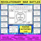 REVOLUTIONARY WAR BATTLES Poster Activities BUNDLE - 12 Activities in all!