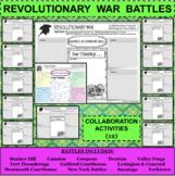REVOLUTIONARY WAR BATTLES Collaboration Activities BUNDLE 12 Activities in all!