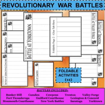 REVOLUTIONARY WAR BATTLES Foldables Activities BUNDLE