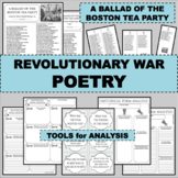 REVOLUTIONARY WAR Poem A BALLAD OF THE BOSTON TEA PARTY Poetry Study
