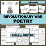 REVOLUTIONARY WAR Poem LAFAYETTE Poetry Study