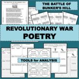 REVOLUTIONARY WAR Poem THE BATTLE OF BUNKER'S HILL Poetry Study