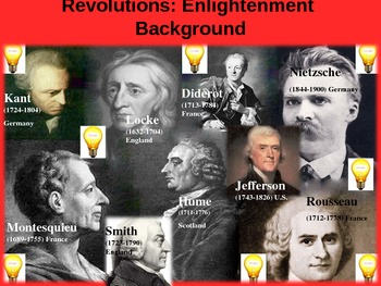 REVOLUTIONS UNIT - (PART 1 - Enlightenment Background) visual, textual, engaging
