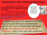 REVOLUTIONS UNIT - (PART 3 - The American Revolution) visual, textual, engaging