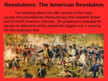 REVOLUTIONS UNIT - (PART 3 - The American Revolution) visual, textual, engaging