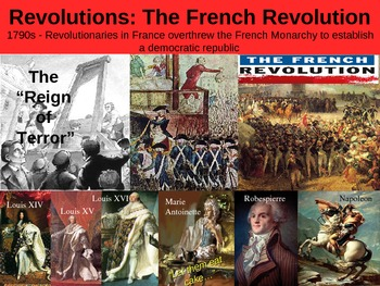 THE FRENCH REVOLUTION! visual, textual, engaging 40-slide PPT w notes