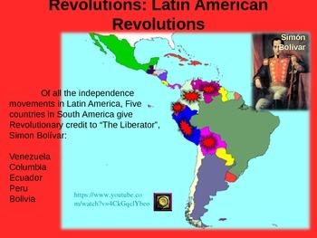 REVOLUTIONS UNIT - (PART 5 Latin American Revolutions) visual, textual, engaging