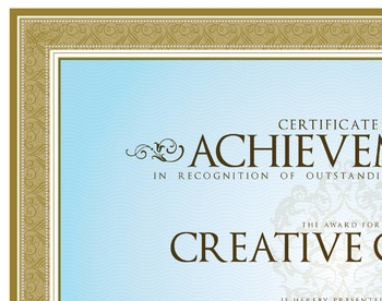 Award Certificates, Not cute