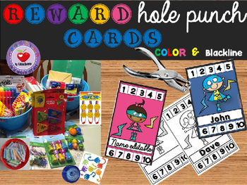 REWARD HOLE PUNCH CARDS- Editable