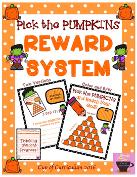 REWARD SYSTEM: Pick the PUMPKINS