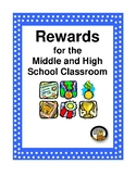 Classroom Reward Coupons - Rewards & Incentives for Middle & High School Student