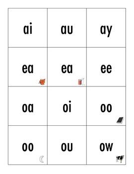 REWARDS Vowel Combinations Flash Cards