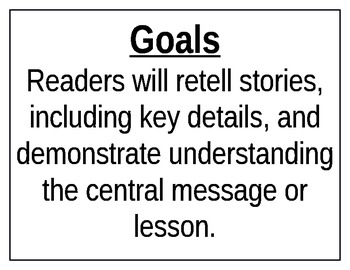 REady Gen First (1st) Grade Essential Questions and Goals