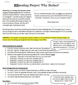 Re-reading Mini- Project: Prove the Strategy's value once and for all!
