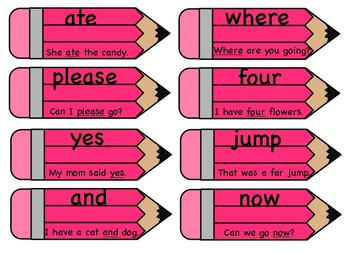 RF 1.3 Basic Sight Words Flash Cards or Word Wall