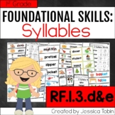 RF.1.3.d&e- Syllable Activities and Lessons, Decoding Syllables