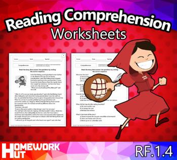 RF.1.4 - Reading Comprehension Worksheets