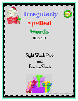 RF.3.3.D - Irregular words